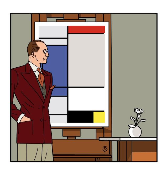 Delius dessin Piet Mondrian