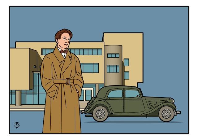 Delius dessinateur Flaminio Bertoni dessin couleur