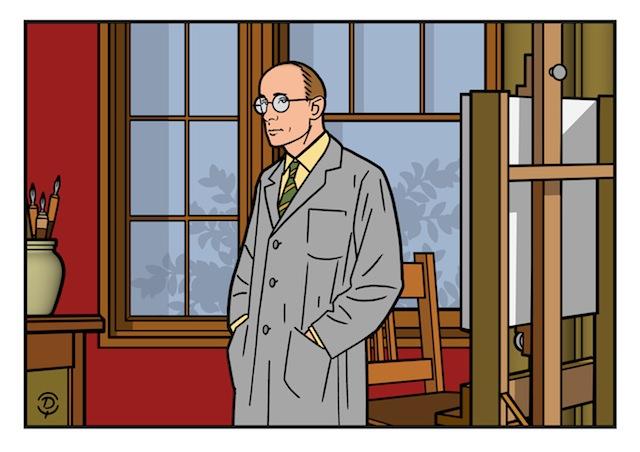 Delius dessinateur Portrait Williams Gluyas dessin quadrichromie
